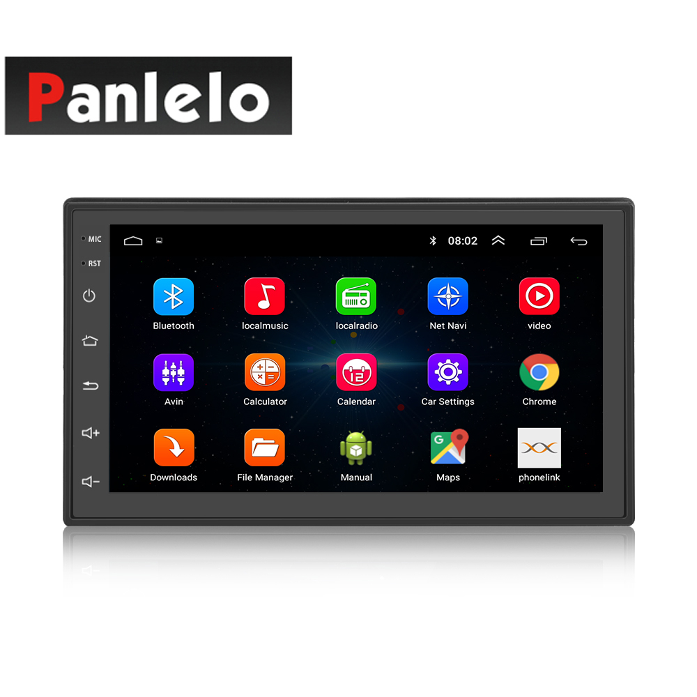S6 2 Din Car Stereo Android 8,1 Quad Core 7 pulgadas de navegación GPS Auto Radio enlace espejo Bluetooth Video de música 1 GB de RAM 16 GBROM