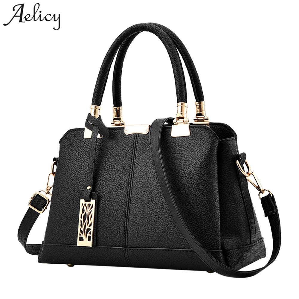 Aelicy 2018 New Design Woman Designer Bags Luxury High Quality Fake Designer Handbags PU Leather Leather Traveling Bag Female
