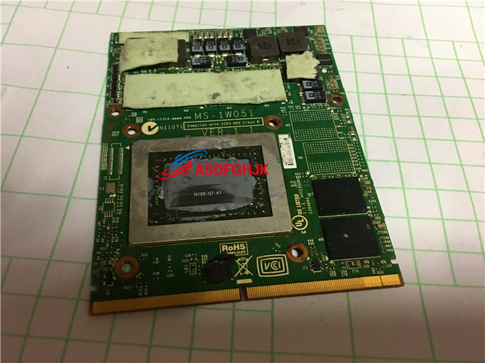 цены Original FOR MSI GT780DX GT680DX MS-16F2 MS-1761 Graphics board MS-1W051 GTX570M Fully tested