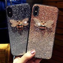 New Glitter Bee For Apple Iphone 6 6s 7 8P X Xs Xr Xsmax Anti-Drop Phone Case