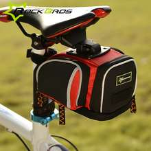 ROCKBROS Reflective Strap & Easy install Bike Bag Nylon Cycling Bicycle Saddle Bag Bicycle Bags Panniers Bike Accessories