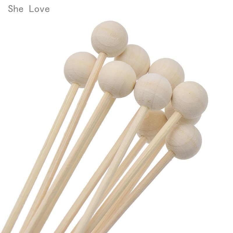 She Love 10 шт. деревянные шарики Премиум ротанга Рид аромат масло диффузор замена пополнения палочки камышы украшения дома спальни