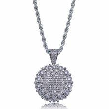 ab79e5f09269 Helado de girasol encanto colgante y collares Hip Hop Color oro y plata cadenas  para hombres regalos de la joyería nativo envío .
