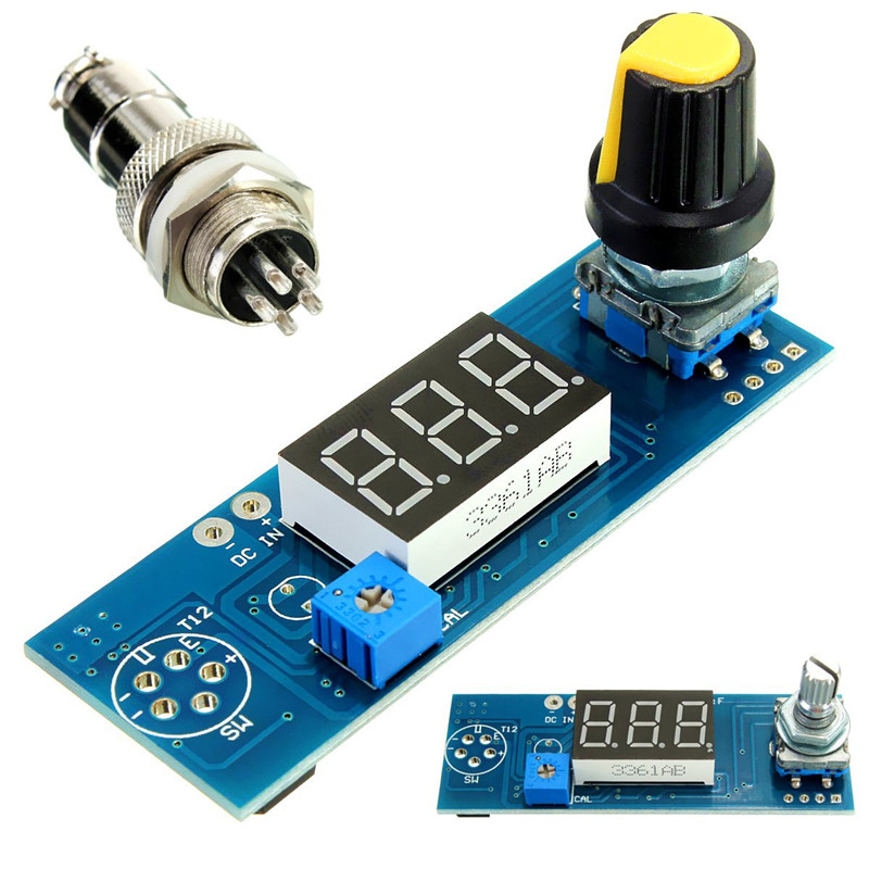 DIY Digital Soldering Iron Station Temperature Controller Board Kit For HAKKO T12 T2 Handle 12-24V  цены