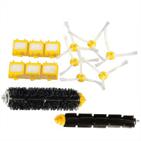 Sweeping Machine Accessories 2pcs Brush Glue Brush 6pcs Side Brush 6pcs Hepa Filters For IRobot Roomba
