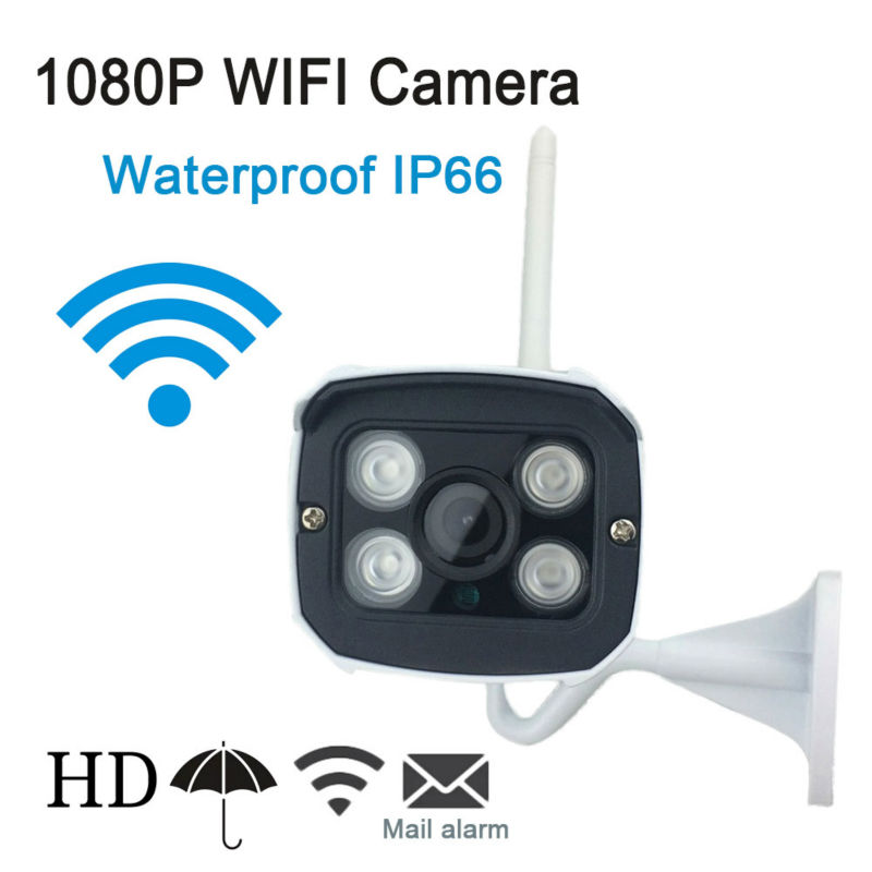 ФОТО Wireless 1080P HD IP Camera WIFI Onvif 2.0.4 P2P for Smartphone Waterproof IP66 Support 64G Micro SD Card 20m IR Outdoor IP Cam