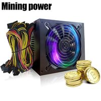 1800W 170 240V ATX Gold Mining Power Supply SATA IDE 6 GPU For ETH Ethereum XXM8