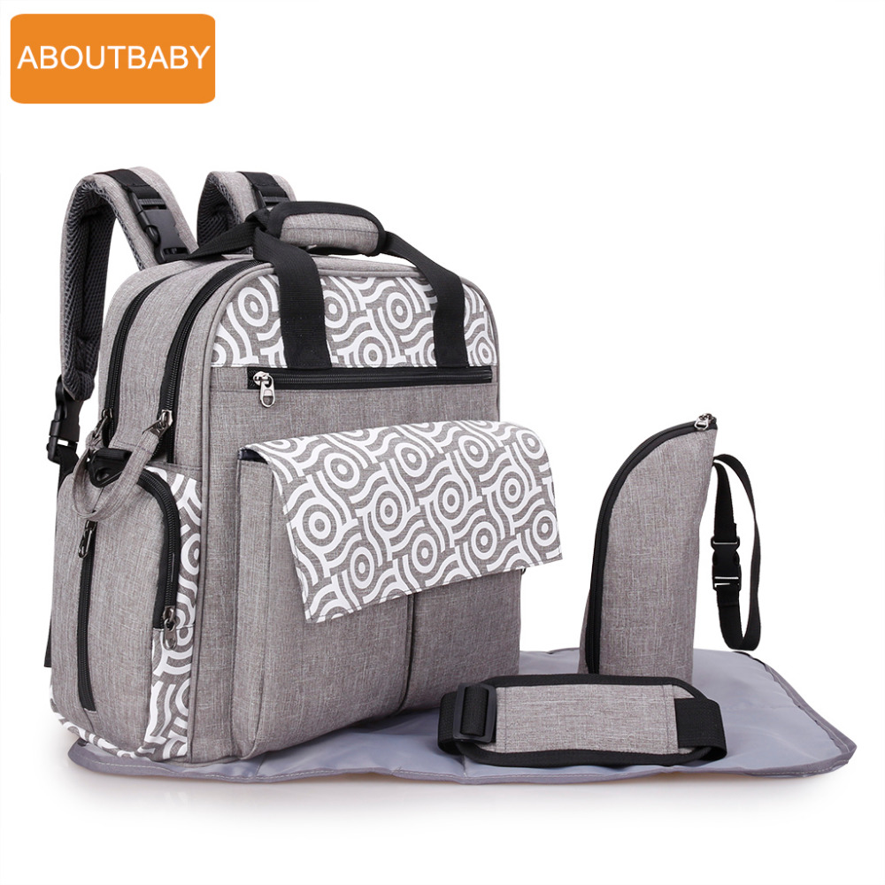 Designer mother baby diaper bag backpack bags waterproof changing mummy maternity nappy bag for stroller accessories