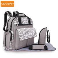 Diseñador madre bebé pañal bolsa mochila bolsas impermeable cambio momia maternidad pañal bolsa para cochecito accesorios organizador
