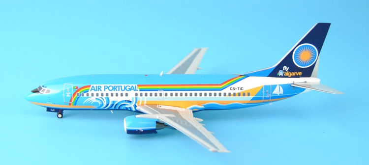 Fine Special offer JC Wings 1: 200 XX2457 Portuguese air B737-300 Algarve Alloy aircraft model Collection model Holiday gifts offer wings xx2449 special jc australian airline vh tja 1 200 b737 300 commercial jetliners plane model hobby