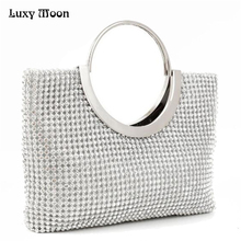 Luxury Diamond Mini Women Evening Bags Designer women Clutch bags ladies Wedding Bridesmaids Bridal Party Bag With Chains ZD113