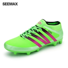 2016 Mid font b Soccer b font Shoes Boots Men Women Unisex Indoor Football Boots Voetbalschoenen