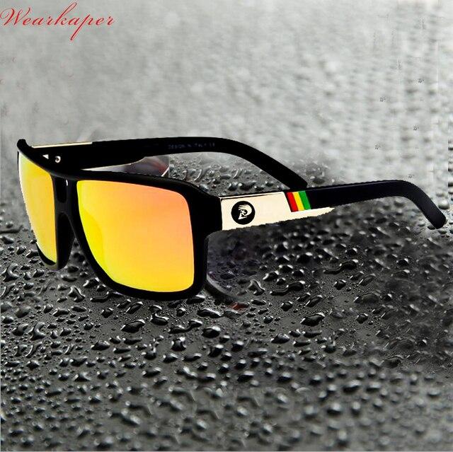 176e97bb691 WEARKAPER Brand Logos Sport Polarized Sunglasses Men HD lens zonnebril Square  Sun Glasses Eyewear 4 Colors UV400 Oculos De Sol