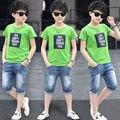 Комплекты для мальчиков летние спортивные костюмы детские комплекты дорожек с алфавитом для мальчиков 4-12 14 лет, одежда для девочек 10-12 лет