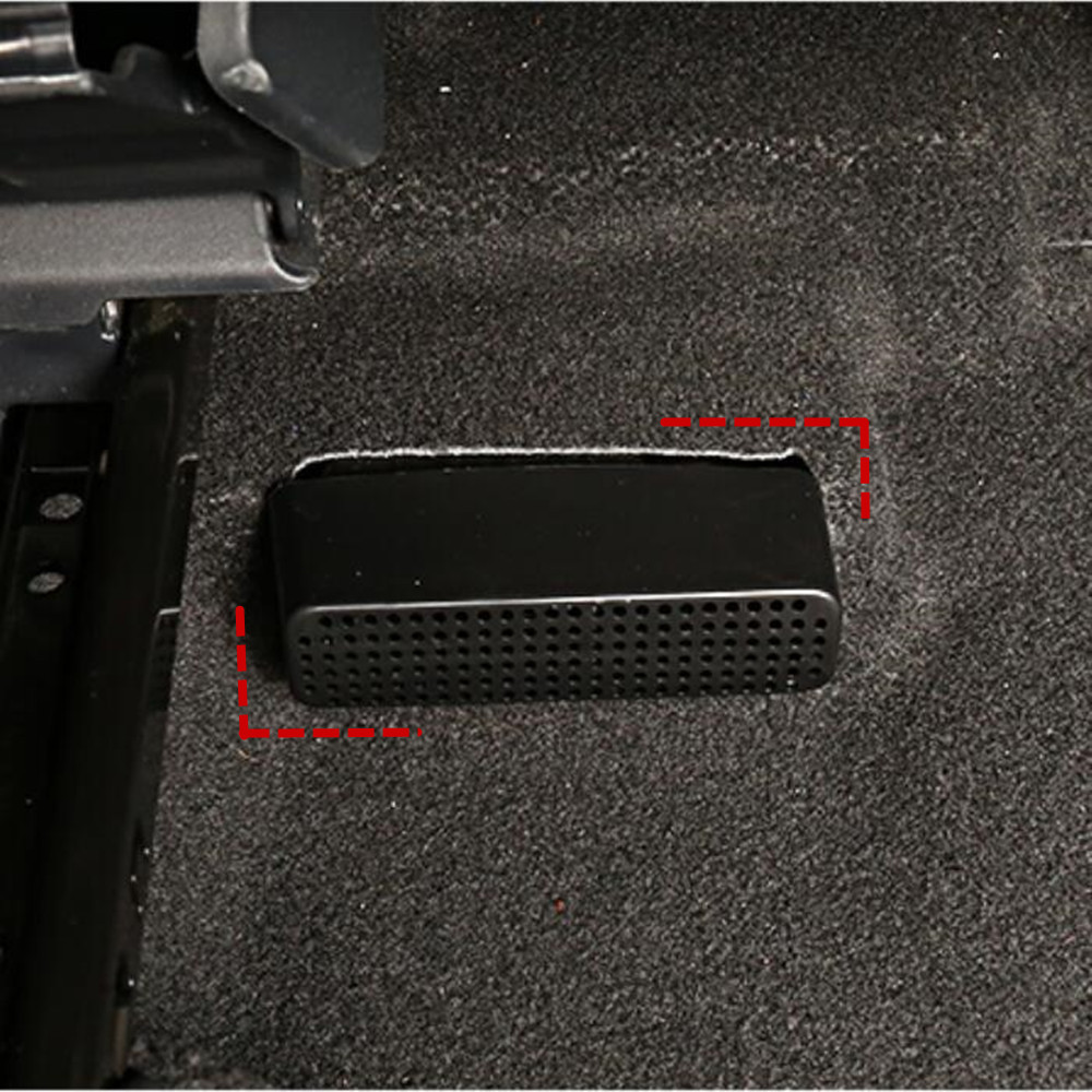 2x Car Under Seat Air Vent Cover Air Conditioning Outlet