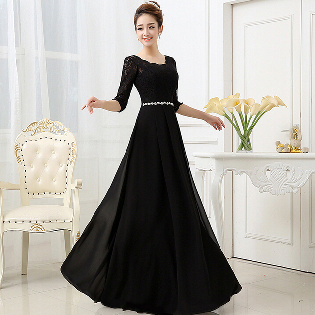 Aliexpress.com : Buy ladies special formal black lace chiffon ...