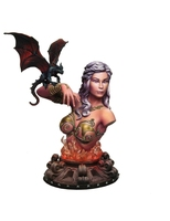1/8 ancient woman warrior with animals bust Resin figure Model kits Miniature gk Unassembly Unpainted