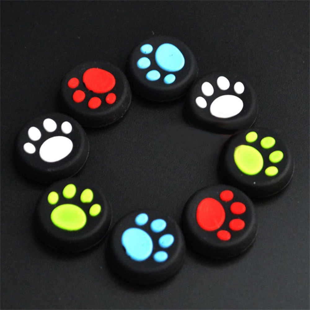 1 Pairs Cat's Paw Silicone Gel Thumb Grips Caps For Nintendo Switch Controller For PS4 Gamepad Game Pad Protection#15