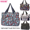 Casual Women Lady Waterproof Nylon Crossbody Messenger Bags Cartoon Floral Mothers Diaper Bags Satchels Travel Tote Bag