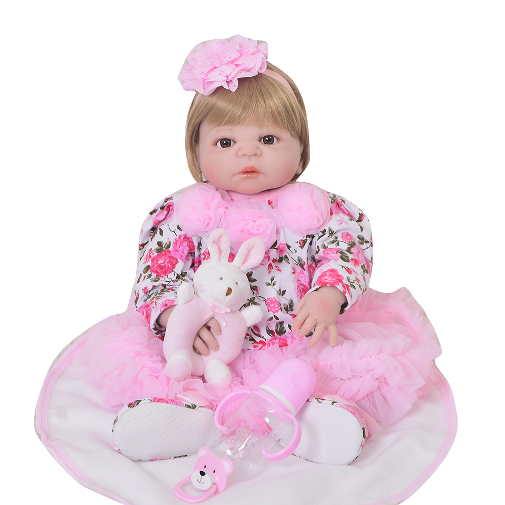 55CM Simulation Full Silicone Reborn Baby Doll Toys Alive Bebe lifelike 23inch bebe alive Clothes Kids Play House Toys hot sale55CM Simulation Full Silicone Reborn Baby Doll Toys Alive Bebe lifelike 23inch bebe alive Clothes Kids Play House Toys hot sale