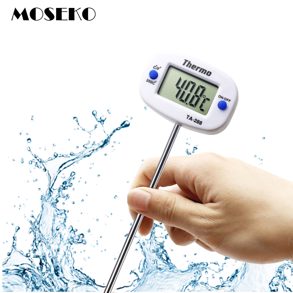 "MOSEKO New 180"" Rotation Digital Oven Thermometer Food Meat Probe BBQ Cooking Chocolate Water Oil Kitchen Thermometer TA288"