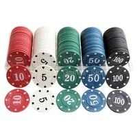 100 pz/set Poker Chip Set di Chip di Poker PokerStars Fatto di plastica A Buon Mercato 40*3mm