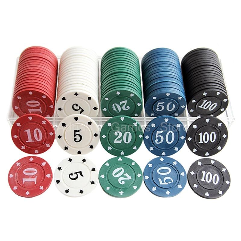 все цены на 100pcs/Set Poker Chips Cheap Set of Poker Chips PokerStars Made of plastic 40*3mm онлайн