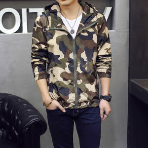 63d22644c80 2018 New Camouflage Jacket Men Plus Size Camo Hooded Windbreaker Jackets  Military Canvas Jacket Parka Fashion Streetwear