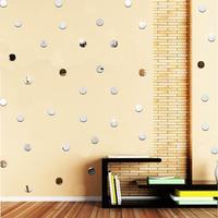 100 шт. 3д DIY акриловые зеркальные настенные стикеры круглой формы с наклейка мозаика зеркало комнаты домашний декор
