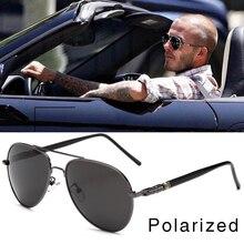 FOOSCK High Quality Spring Leg Alloy Men Sunglasses Polarized Lens Brand Design