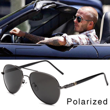 FOOSCK High Quality Spring Leg Alloy Men Sunglasses Polarize