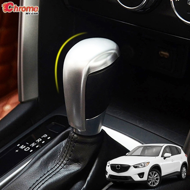 For Mazda CX 5 CX5 KE 2012 2013 2014 2015 2016 Chrome Gear Shift Head Cover Trim Handle Control Knob Lid Decoration Car Styling