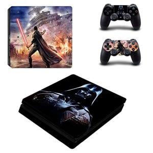Image 2 - Film Star Wars PS4 Slim Haut Aufkleber Aufkleber Vinyl für Playstation 4 Konsole und 2 Controller PS4 Slim Haut Aufkleber