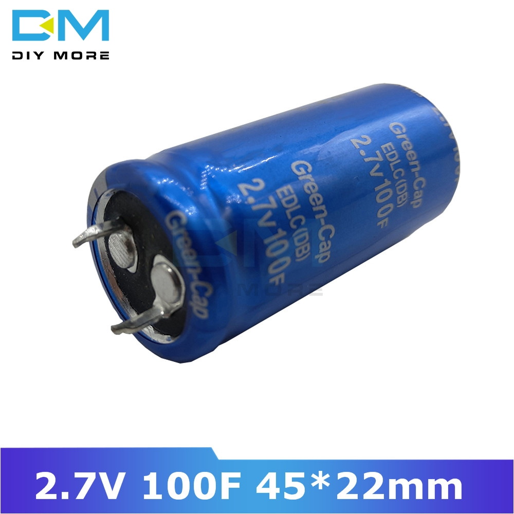 Super Farad Capacitor 2.7V 100F 45*22mm Ultracapacitor Ultra Farad Low ESR High Frequency 45*22 45x22mm 45x22 Diy Electronic