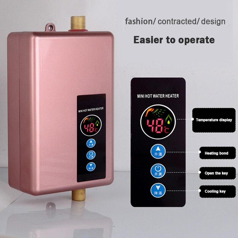Calentador de agua eléctrico instantáneo grifo hogar Baño calentador de agua velocidad inteligente Mini calentador de agua ducha caliente