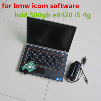 2020.03 for bmw icom software with laptop e6420 i5 4g hdd 500gb ista expert mode works for icom a2 a3 next windows 7 super
