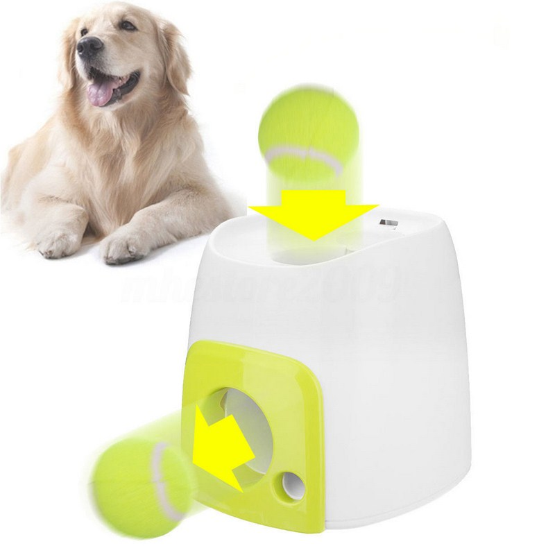 Funny Interesting Dog Toys Children Outdoor Ball Toy Pet Dog Launcher Tennis Ball Toy Fetch Thrower Game Dog's Training Game hot sale short plush chew squeaky pet dog toy