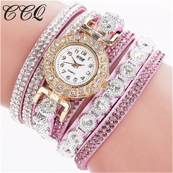 CCQ Women's Bracelet Ladies Rhinestones Clock Vintage Fashion Dress Wristwatches 3