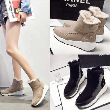 vente au royaume uni sélection premium fournisseur officiel 2018 hiver bottines pour femmes mode chaussures femme fourrure à