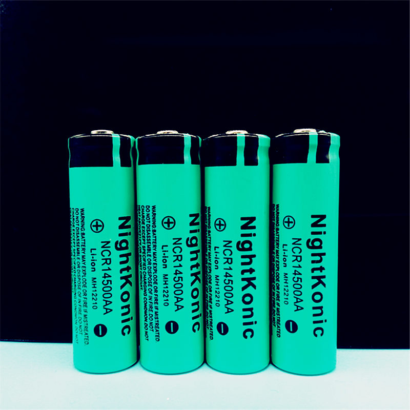 Super High Quality Original New Nightkonic 14500 Battery 3.7V Li-ion Rechargeable Battery For Flashlight
