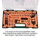 49 шт. набор инструментов домашний авторемонтный комплект гаечный ключ отвертка бит трещотка ремонтный комплект - 6