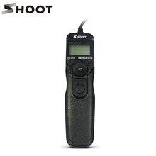 Shoot mc-dc2 таймер пульт дистанционного спуска затвора для nikon d3100 d7000 d90 D610 D600 D3200 D5100 D5200 D5300 D3300 D5000 Цифровые ЗЕРКАЛЬНЫЕ камеры
