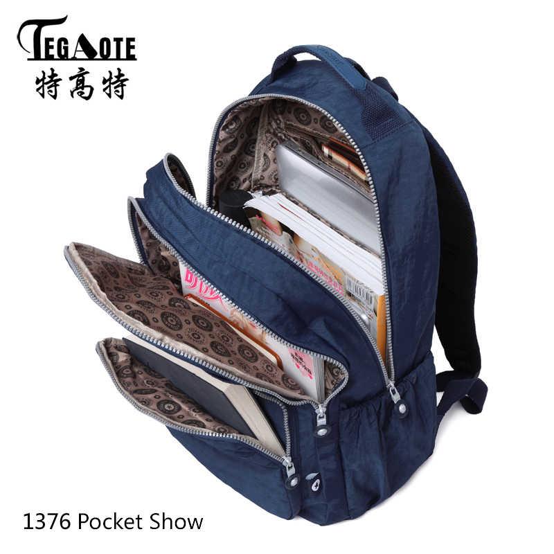 حقيبة ظهر جديدة من TEGAOTE كلاسيكية صغيرة للأطفال كبيرة مناسبة للمراهقات والأطفال من النيلون ومضادة للسرقة حقيبة ظهر للسفر وللكمبيوتر المحمول