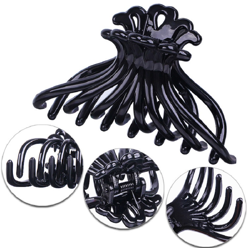 1pc Black Hair Claws Plastic Hairpins for Women Crab Claws Hairgrip Girls Hairclips   Headwear   Barrettes Make Up Styling Tools New