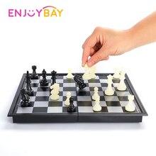 Дорожные шахматы, средневековые шахматы, набор, 25x25 см, складные шахматы, настольная игра, 1 шахматная доска и 32 шахматных элемента, магнитный Шахматный набор