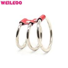 3 кольца задержать петух кольцо из нержавеющей стали кольцо пениса cockring мяч носилки взрослых секс-игрушки для мужчин секс-игрушки для пары