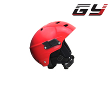 FREE SHIPPING Red color water sports Helmet Aquatic kayak rafting helmets with removable ear pads