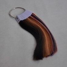 100% Человеческих волос Цвет Кольцо для Человеческих Волос Прямо 31 Различных Цветов