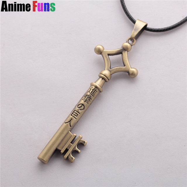 Attack On Titan Eren Key Necklace Metal Pendant