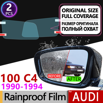 2Pc for Audi 100 C4 1990 - 1994 4A Full Cover Anti Fog Film Rearview Mirror Rainproof Foils Clear Anti-Fog Films Car Accessories image